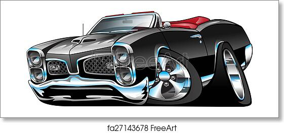Free Art Print Of Classic American Muscle Car Cartoon Classic