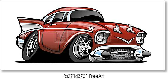 Free Art Print Of Classic American Hot Rod Cartoon Il Classic