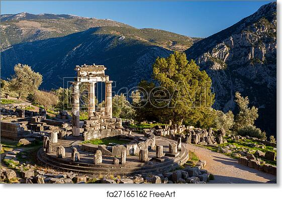 Free art print of Delphi with ancient ruins in Greece