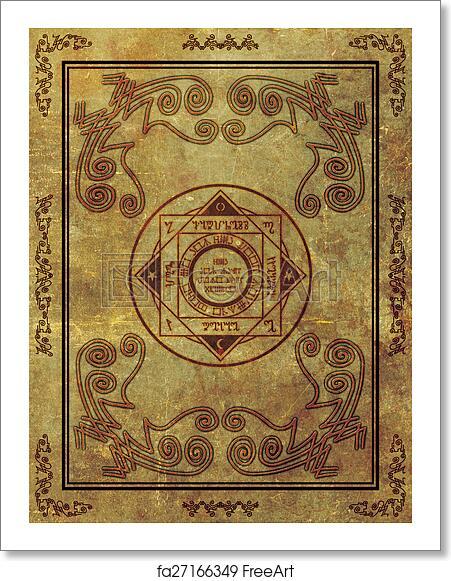 Free art print of Magical Mystic Sigil Symbol Design on Old Paper