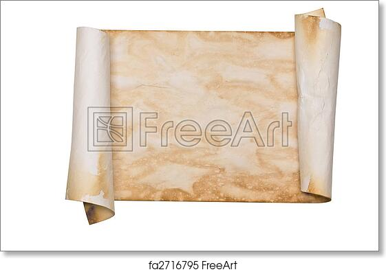 free art print of ancient parchment scroll ancient looking