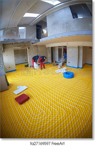Free art print of Workers installing underfloor heating system & Free art print of Workers installing underfloor heating system ...