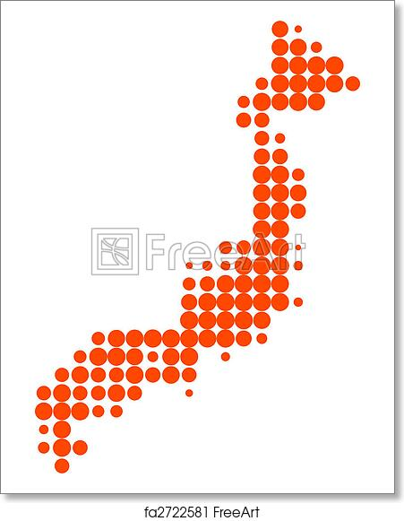 picture about Printable Map of Japan named Absolutely free artwork print of Map of Japan