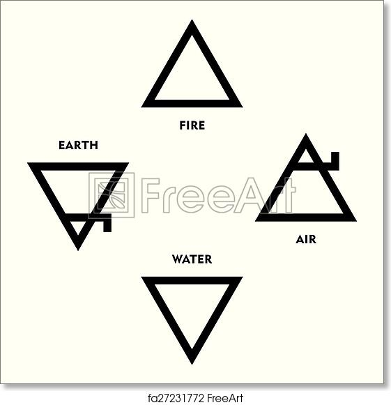 Free Art Print Of Classical Alchemy Element Symbols Classical Four