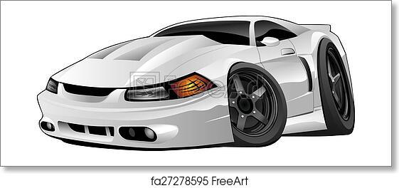 Free Art Print Of American Modern Muscle Car Hot Modern American
