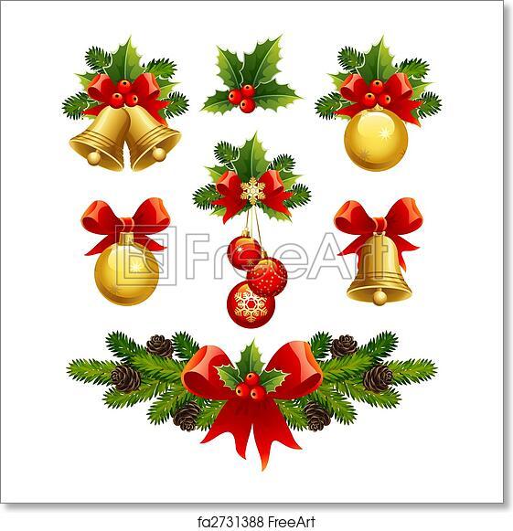 Christmas Ornaments Vector.Free Art Print Of Christmas Ornaments