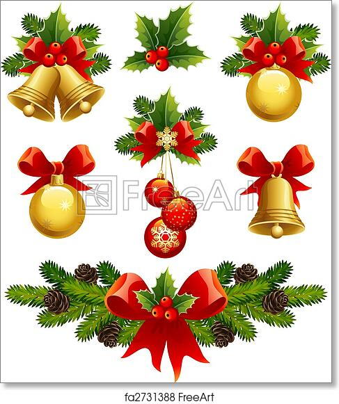 graphic regarding Printable Christmas Decorations titled Cost-free artwork print of Xmas ornaments