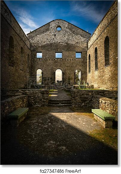Last Days Of St Raphaels Cathedral >> Free Art Print Of Ruins Of St Raphael Church Interior