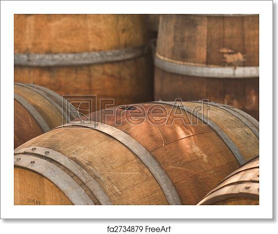 Free Art Print Of Wine Barrel Barrel Used To Store Vintage Wine