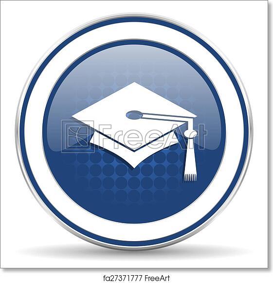 free art print of education icon graduation sign freeart fa27371777