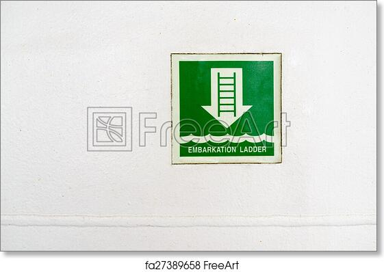 Free Art Print Of Information Plate Of Embarkation Ladder