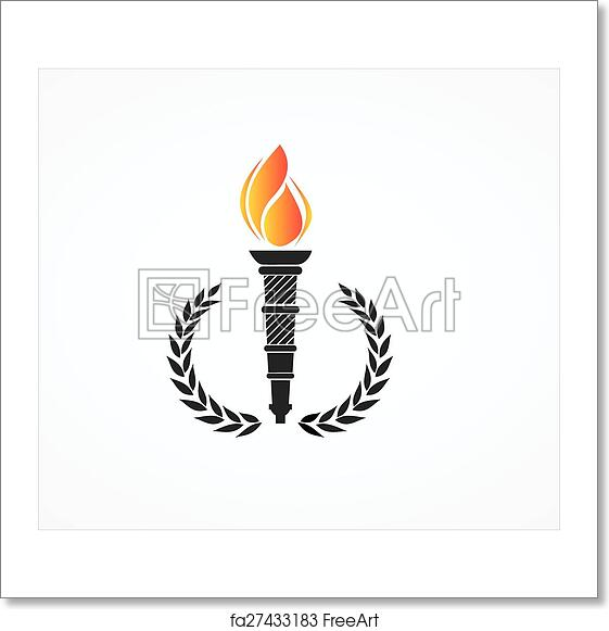 Free Art Print Of Olympic Torch Greek Olympic Torch With Golden