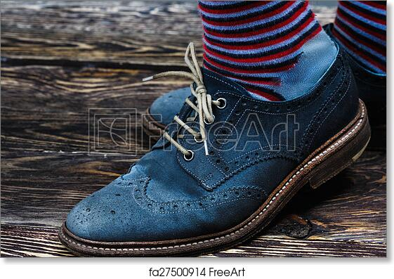 Free art print of Blue suede shoes