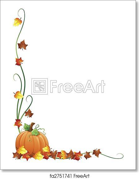 Free Art Print Of Autumn Border