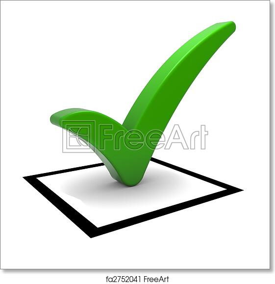 Free Art Print Of Green Tick Symbol Check Box With Green Check Mark