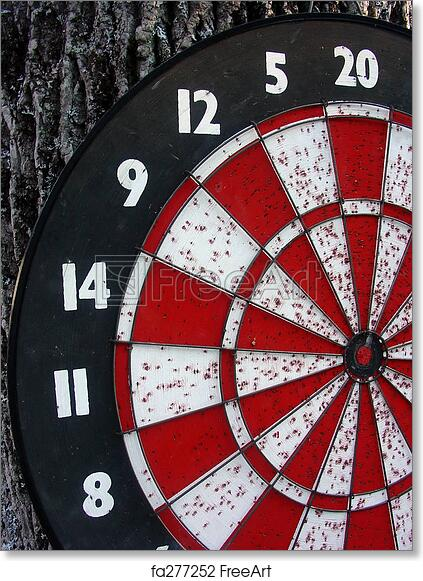 graphic relating to Printable Dart Board identified as Absolutely free artwork print of Previous Dart Board