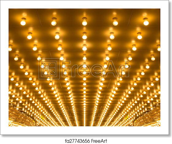 free art print of marquee lights golden bulbs marquee lights