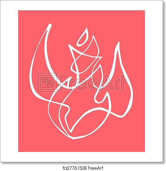 Free Art Print Of Holy Spirit Hand Drawn Vector Illustration Or