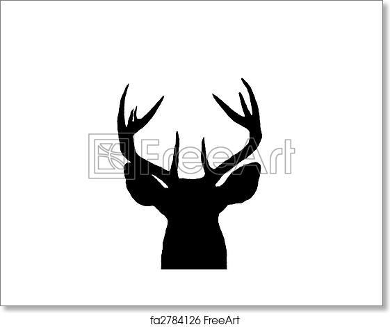 Free Art Print Of Whitetail Deer Buck Silhouette A
