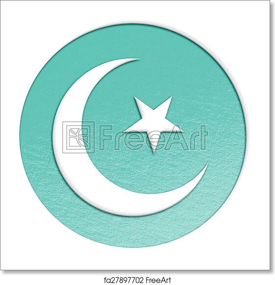 Free art print of Islam symbol illustration