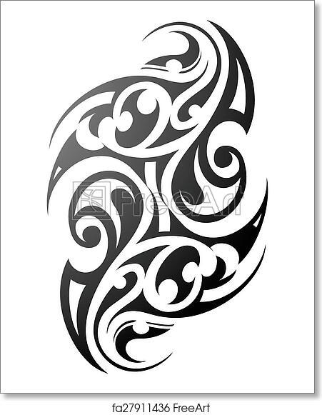 Free Art Print Of Maori Tattoo. Maori Tattoo. Ethnic