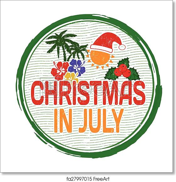 Christmas In July Free Image.Free Art Print Of Christmas In July Stamp
