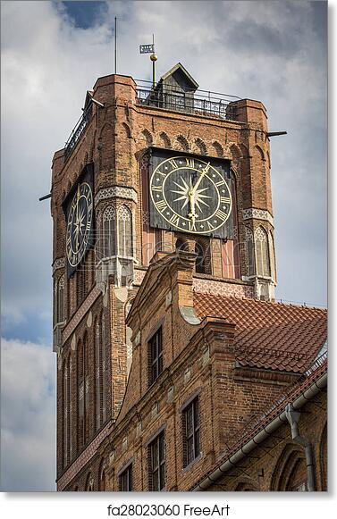 Free Art Print Of Gothic Tower Town Hall In Torun City On The World Heritage List