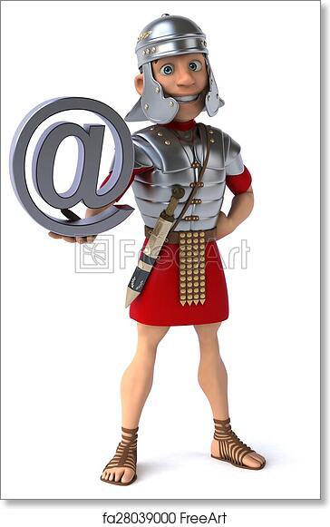 free art print of roman soldier freeart fa28039000