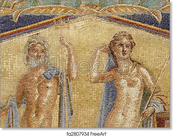 Free art print of Multi-colored wall mosaics of Venus and Neptune at ...