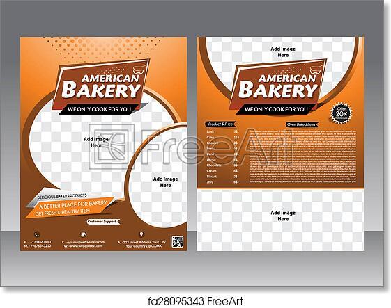 Free Art Print Of Bakery Flyer Magazine Poster Template Bakery
