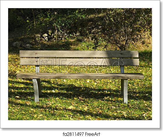 Free Art Print Of Empty Park Bench An Empty Bench In A Park During