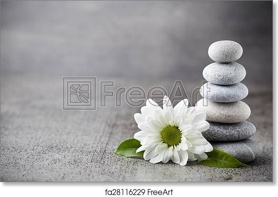 Wellness background  Free art print of Wellness background. Spa stones treatment scene ...