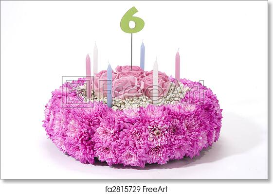 Free Art Print Of Flowers Birthday Cake Birthhday Made Various Kind