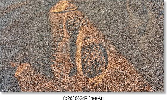 86c0a3ccf908d Free art print of Converse Sand Footprint