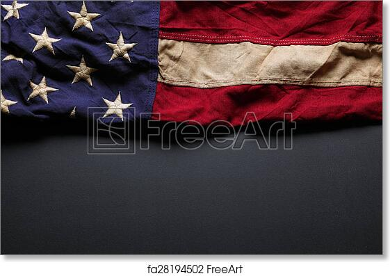 Free Art Print Of Old American Flag Background For Memorial Day Or