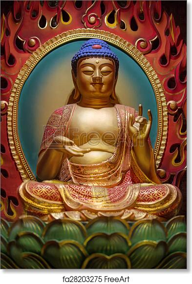 free art print of the lord buddha in chinese buddha tooth relic
