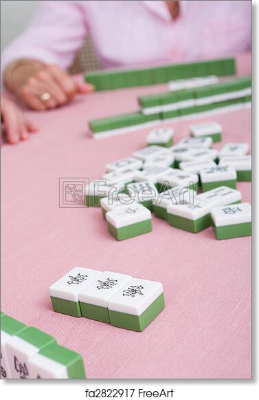 photo about Mahjong Card Printable known as Free of charge artwork print of Actively playing mahjong