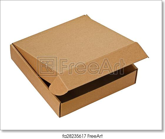 Free Art Print Of A Brown Pizza Box A Brown Pizza Box Partially