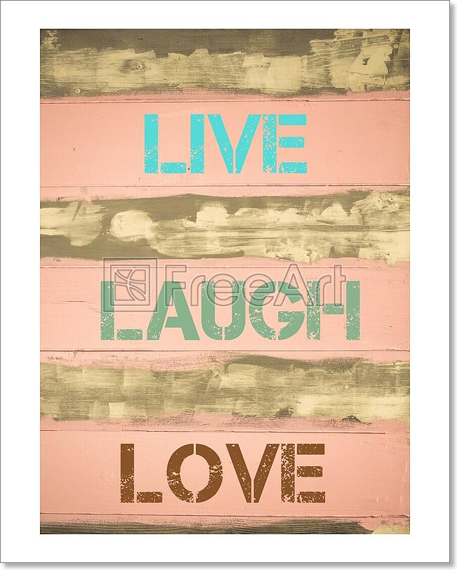 Live Laugh Love Motivational Quote Art Print Home Decor Wall Art - 2 ...