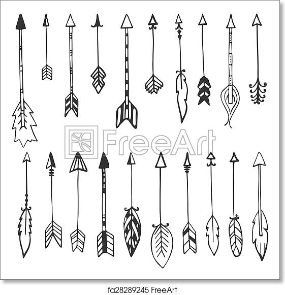 photograph regarding Free Printable Arrows titled Cost-free artwork print of Choice of hand drawn arrows