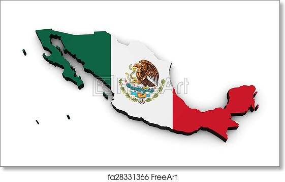 image regarding Mexico Flag Printable titled Absolutely free artwork print of Mexico Flag Map Condition