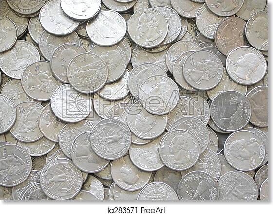 graphic relating to Printable Quarters titled Free of charge artwork print of Quarters