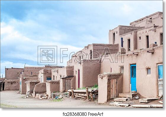 414805ec9d26 Free art print of Taos Pueblo - remarkable example of a traditional type of  architectural ensemble from the pre-Hispanic period of the Americas.