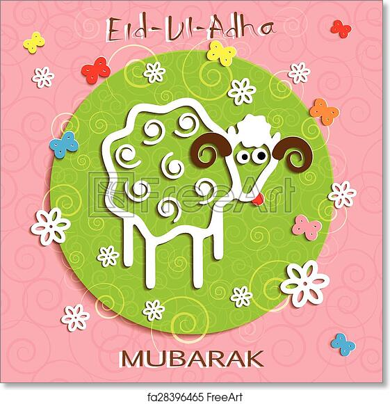 Free art print of muslim community festival of sacrifice eid ul adha free art print of muslim community festival of sacrifice eid ul adha greeting card m4hsunfo