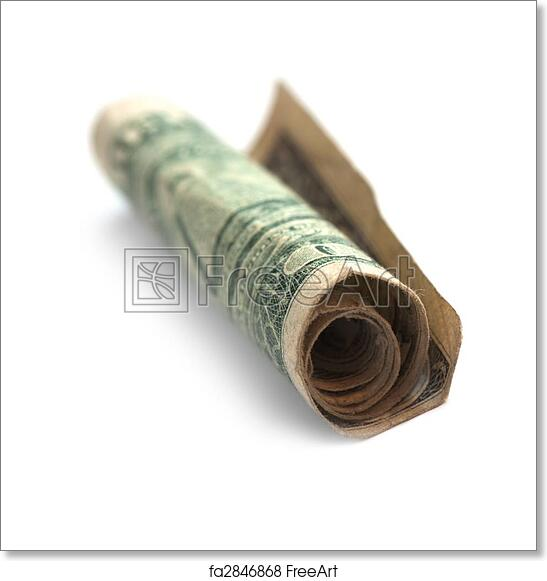 free art print of rolled doller old rolled dollar freeart fa2846868