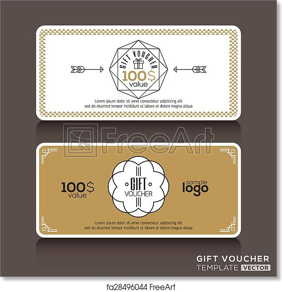 Free Art Print Of Gift Certificate Voucher Coupon Template Gift