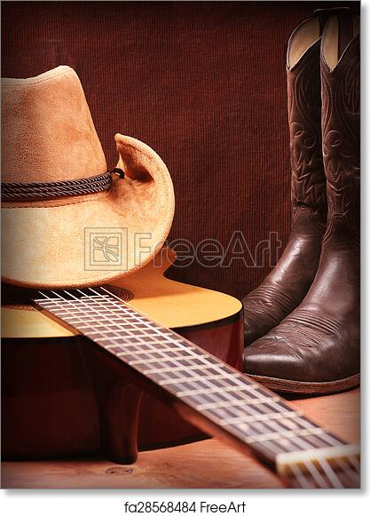 Free art print of American Country music background