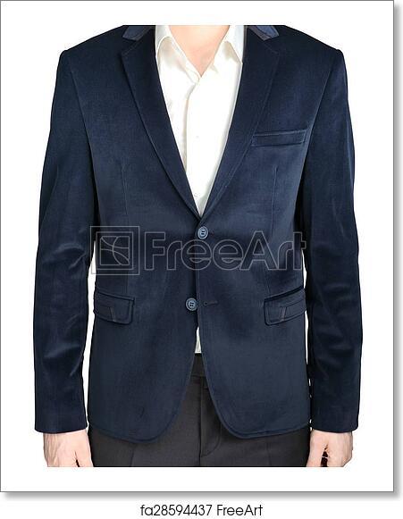 Free Art Print Of Velvet Blazer Wedding Groom Suit Jacket Navy Blue