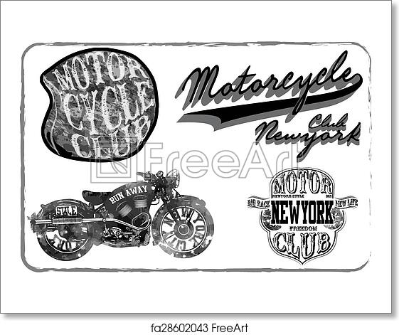 Free Art Print Of Motorcycle Racing Typography Graphics And Poster