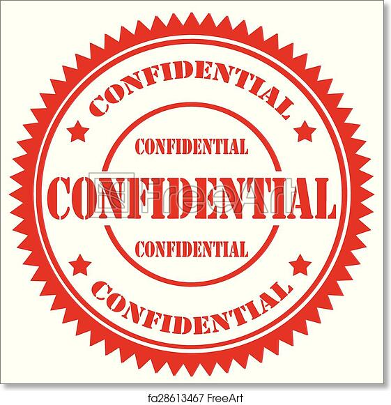 Free Art Print Of Confidential Stamp